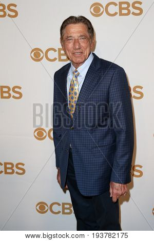 Former New York jets quarterback Joe Namath attends the 2015 CBS Upfront at The Tent at Lincoln Center on May 13, 2015 in New York City.