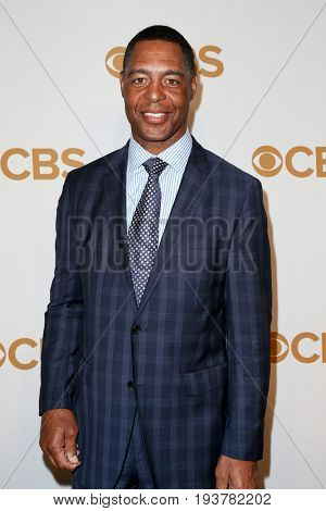 Former Los Angeles Raiders running back Marcus Allen attends the 2015 CBS Upfront at The Tent at Lincoln Center on May 13, 2015 in New York City.
