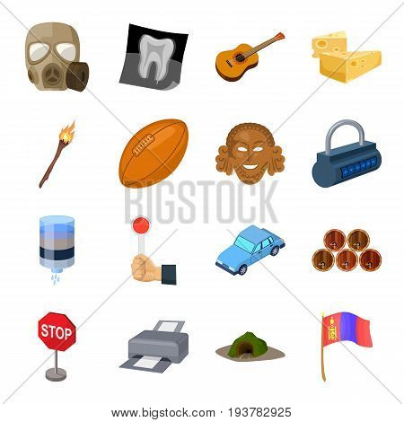 Mongolia, sport, computer and other  icon in cartoon style. medicine, tourism, parking icons in set collection.