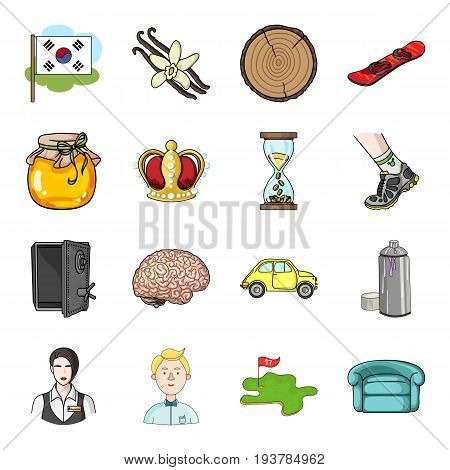 organizing, trade, medicine and other  icon in cartoon style. tourism, bank, travel icons in set collection.