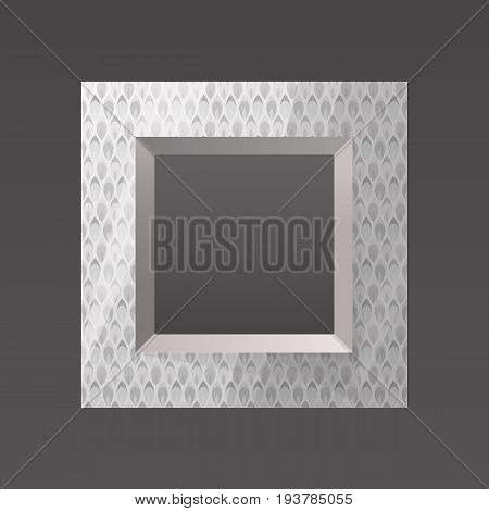 metal printed frame blank for your text, photo or design eps10 isolated vector illustration