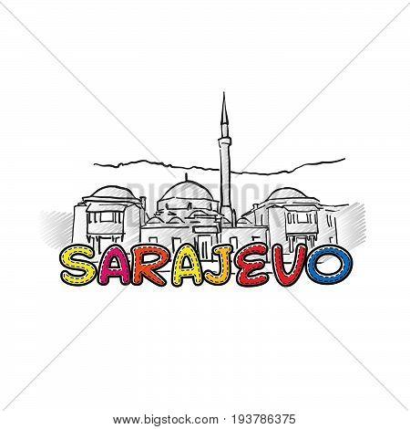 Sarajevo Beautiful Sketched Icon