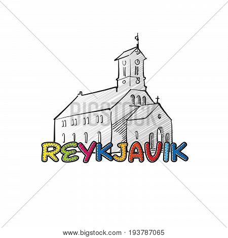 Reykjavik Beautiful Sketched Icon