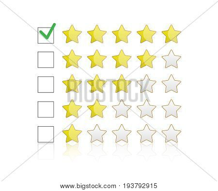 Product rating star vector. Rating symbol vector