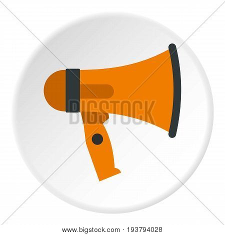 Mouthpiece icon in flat circle isolated vector illustration for web