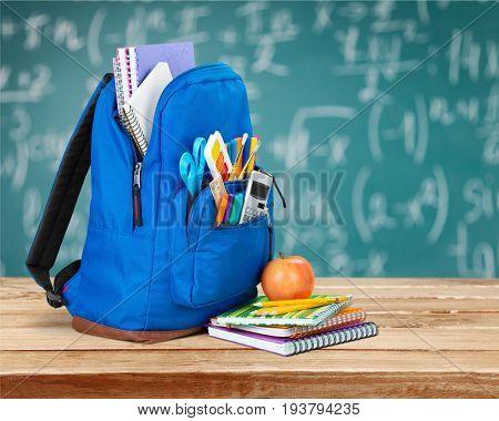 Background back school backpack color large object