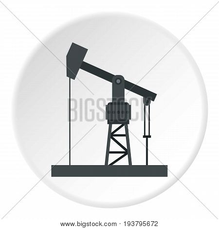 Oil industry equipment icon in flat circle isolated vector illustration for web