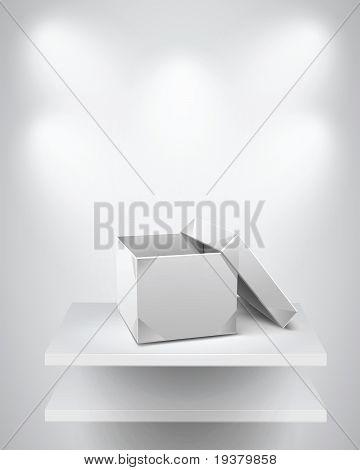 Origami Box on Shelf.