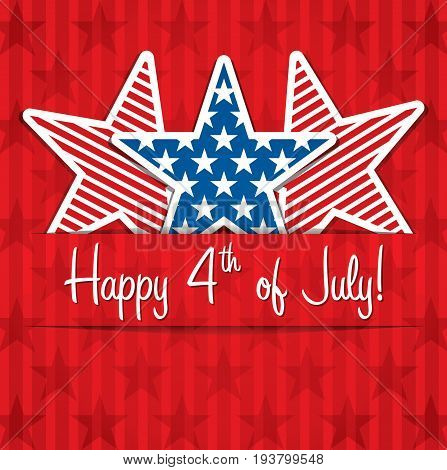 Happy 4th of July United States of America. Independence Day
