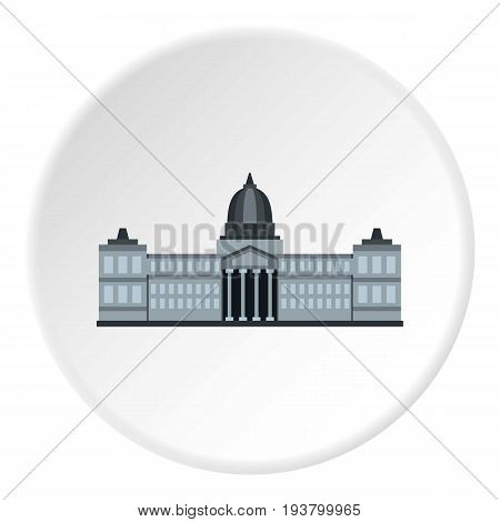 National Congress Building, Argentina icon in flat circle isolated vector illustration for web