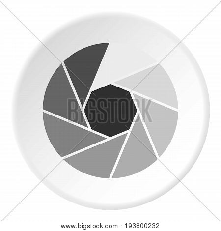 Little objective icon in flat circle isolated vector illustration for web