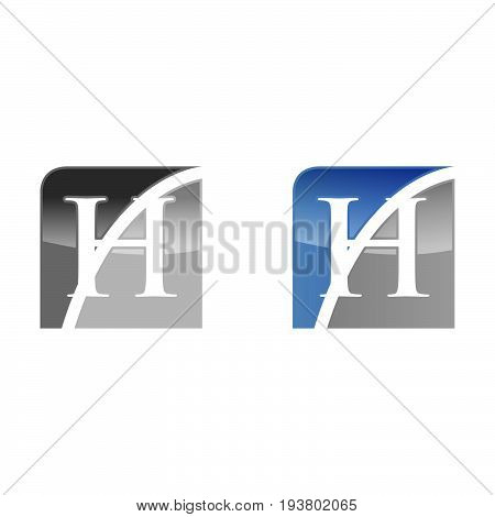 H letter vector. H logo icon template. illustrator. 3D looks design logo.