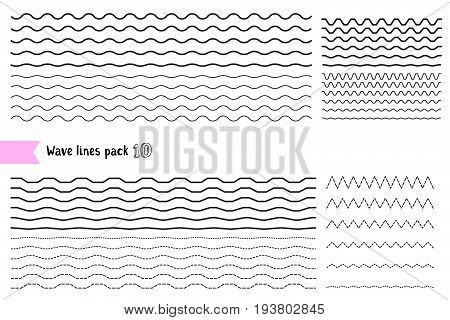 Vector Collection Of Graphic Design Elements Variation Dotted Line And Solid Line. Different Thin Li