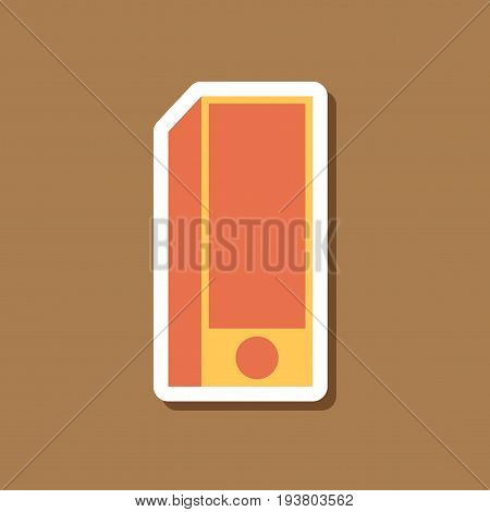 paper sticker on stylish background Subwoofer business