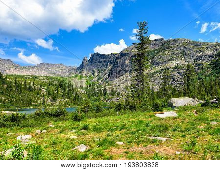 Mountain Landscape In Southern Siberia