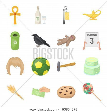sports, recreation, cooking and other  icon in cartoon style.raisins, candy, sweets icons in set collection.