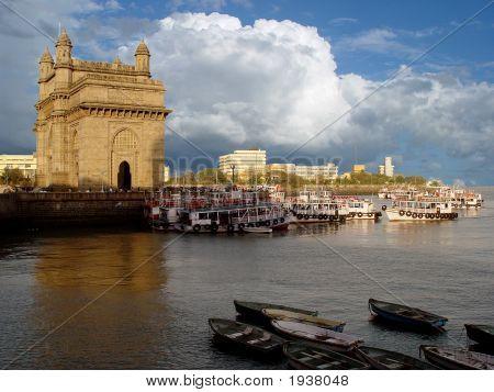 Gateway Of India, Mumbai (Bombay), India. Sky And Cloud