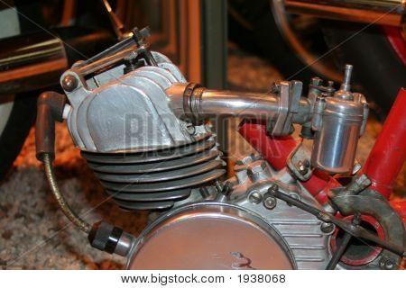 Old Single Cylinder Motorbike Engine