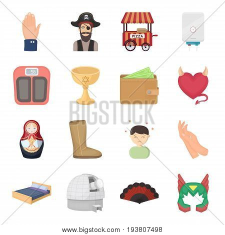 Science, education, medicine and other  icon in cartoon style.Health, recreation, tradition icons in set collection.