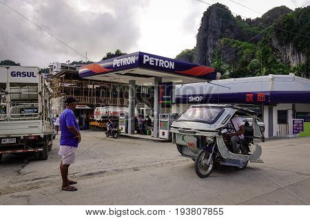 Street At Downtown In El Nido, Philippines