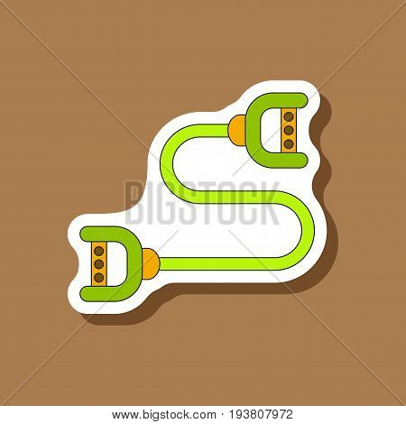 paper sticker on stylish background Sports expander