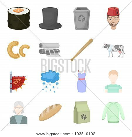 ecology, business, hobby and other  icon in cartoon style.package, liquid, raglan icons in set collection.