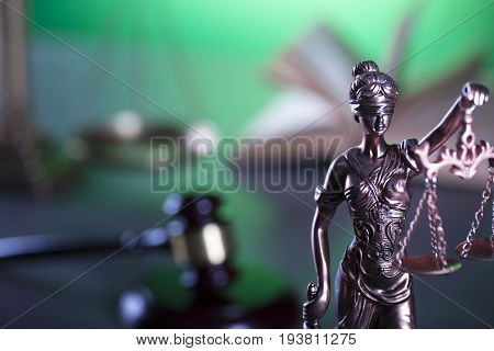 Justice concept. Lady justice - Themis, law symbol.