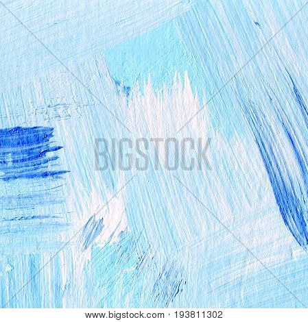 Background Of Detail Of Blue Acrylic Painting.