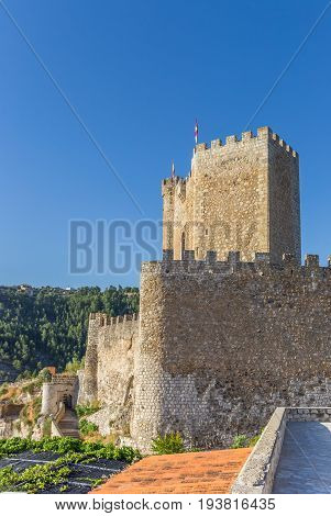 Castle On The Hilltop Of Alcala Del Jucar