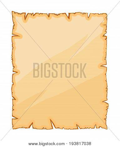 Old Paper, Torn Parchment Vector Symbol Icon Design.