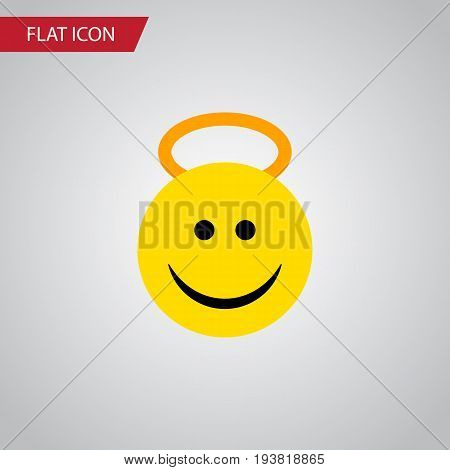 Isolated Cheerful Flat Icon. Angel Vector Element Can Be Used For Angel, Cheerful, Smile Design Concept.