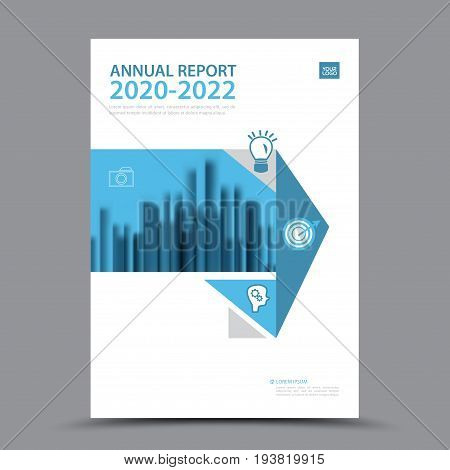 Blue Brochure template layout cover design annual report magazine flyer or booklet in A4 magazine advertising poster leaflet business layout polygon vector illustration