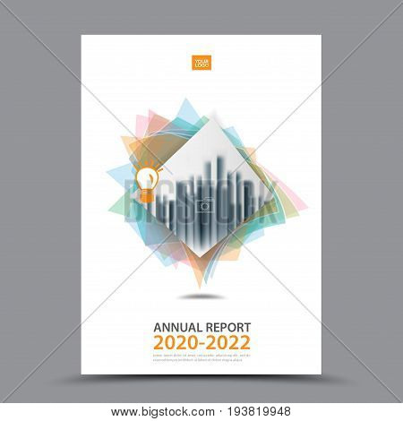 Brochure template layout cover design annual report magazine flyer or booklet in A4 magazine advertising poster leaflet business layout polygon vector illustration