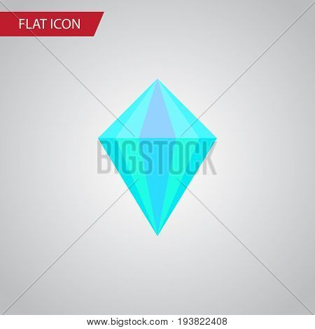 Isolated Carat Flat Icon. Gemstone Vector Element Can Be Used For Carat, Diamond, Gemstone Design Concept.