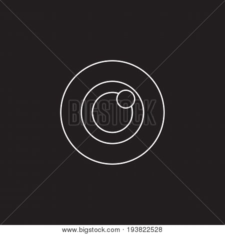 Bulls eye icon vector, target solid logo illustration, pictogram isolated on black