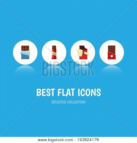 Flat Icon Sweet Set Of Shaped Box, Sweet, Bitter And Other Vector Objects. Also Includes Sweet, Box, Confection Elements.