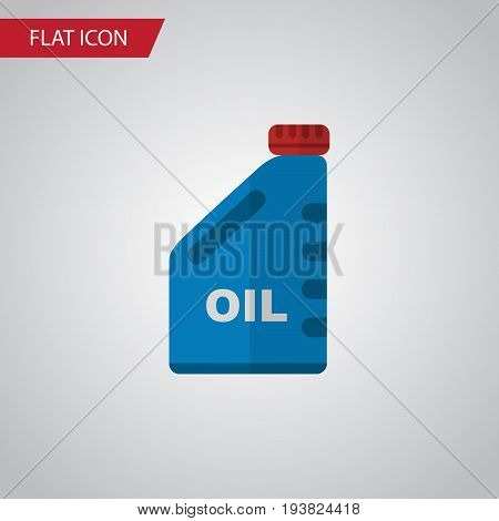 Isolated Oil Jerrycan Flat Icon. Petrol Vector Element Can Be Used For Petrol, Oil, Jerrycan Design Concept.