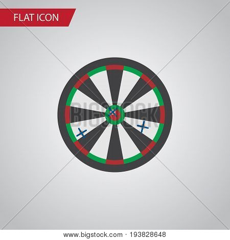 Isolated Darts Flat Icon. Arrow Vector Element Can Be Used For Arrow, Darts, Game Design Concept.
