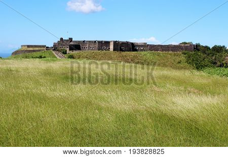 Historical Brimstone Hill Fortress on the island of St. Kitts