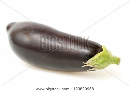 Aubergine closeup on a white background. isolated