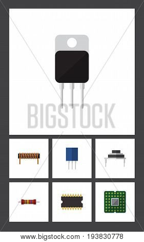 Flat Icon Device Set Of Bobbin, Receptacle, Unit And Other Vector Objects. Also Includes Bobbin, Recipient, Receiver Elements.
