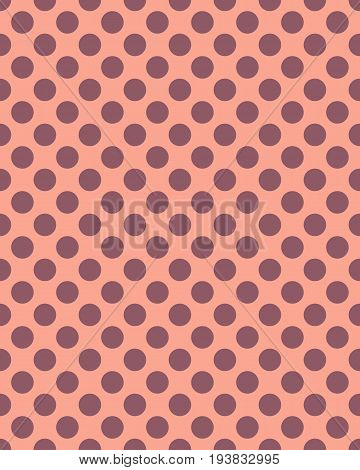 Brown dots on a pink background, seamless pattern