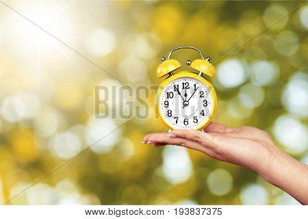 Clock waking wake countdown hour isolated timer