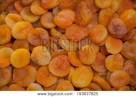 Background Nuts, Dried Apricot, Pieces Piled, Background Of Dried Fruit
