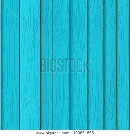 Blue wooden texture, seamless pattern wooden turquoise boards, wall or fence. Vector illustration. Empty template. Summer wood template for poster, brochure, Sales banner design.