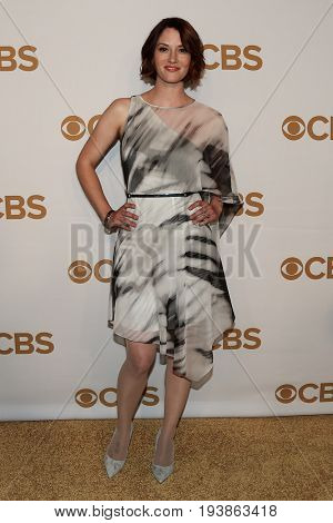 Actress Chyler Leigh attends the 2015 CBS Upfront at The Tent at Lincoln Center on May 13, 2015 in New York City.