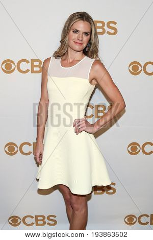 Actress Maggie Lawson attends the 2015 CBS Upfront at The Tent at Lincoln Center on May 13, 2015 in New York City.