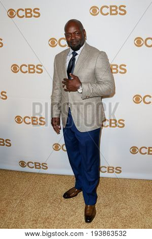 Former Dallas Cowboys running back Emmitt Smith attends the 2015 CBS Upfront at The Tent at Lincoln Center on May 13, 2015 in New York City.