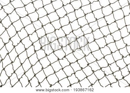 a fishing net on a white background