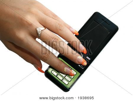 Manicure On Phone